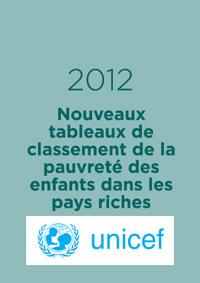 Nouveaux tableaux de classement de la pauvreté des enfants dans les pays riches