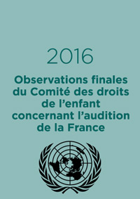 Observations finales concernant l'audition de la France par le Comité des droits de l'enfant