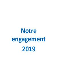 """Dépliant """"Notre engagement 2017"""""""